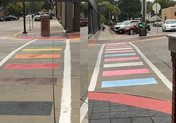 Ames' rainbow crosswalks are more than a symbol