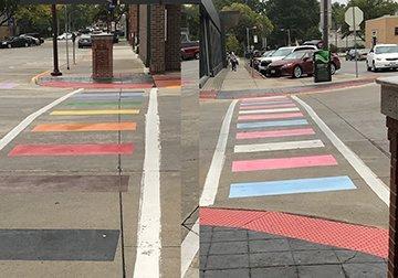 Ames' rainbow crosswalks are more than a symbol