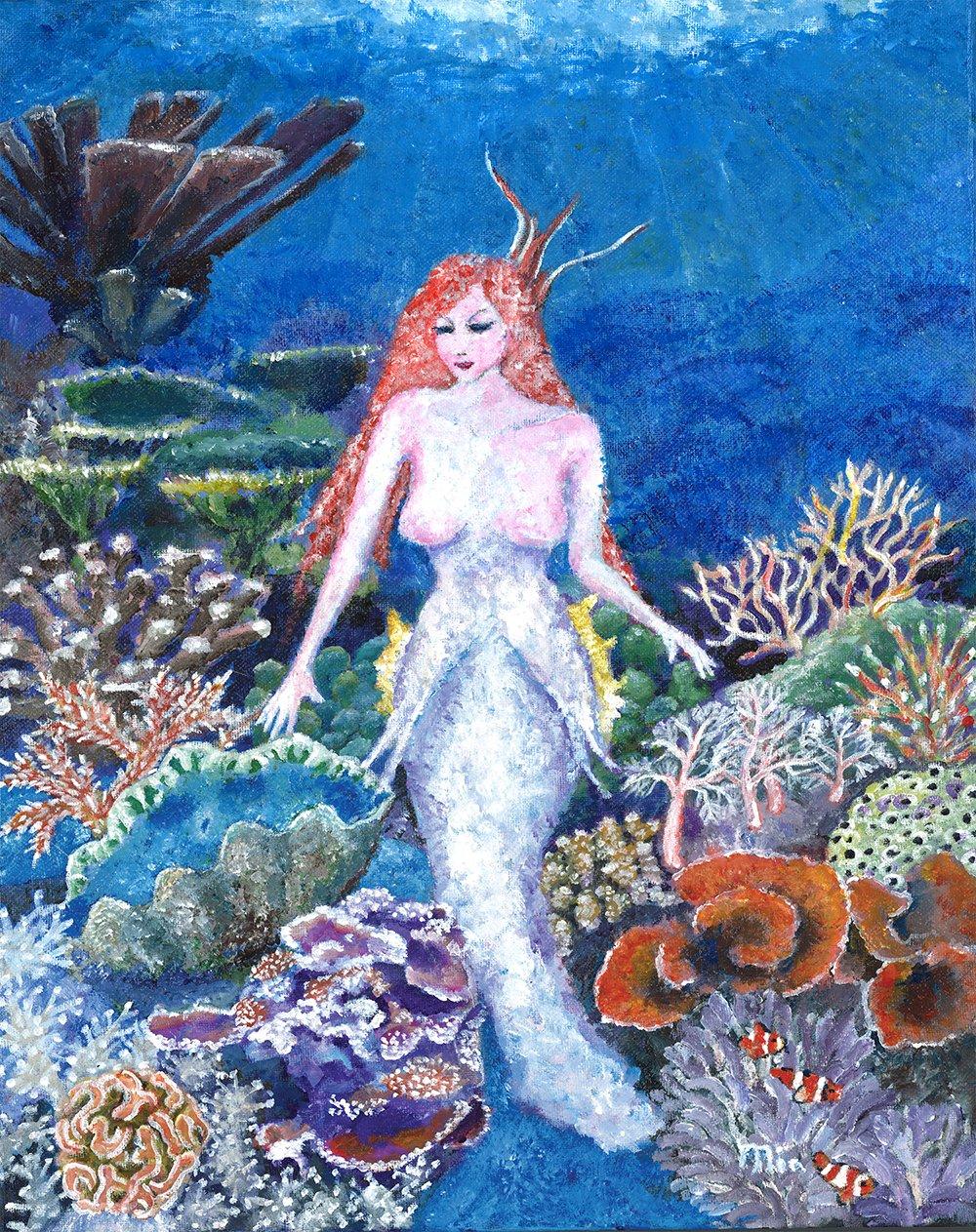Mermaid In Her Gerden by Mia Story