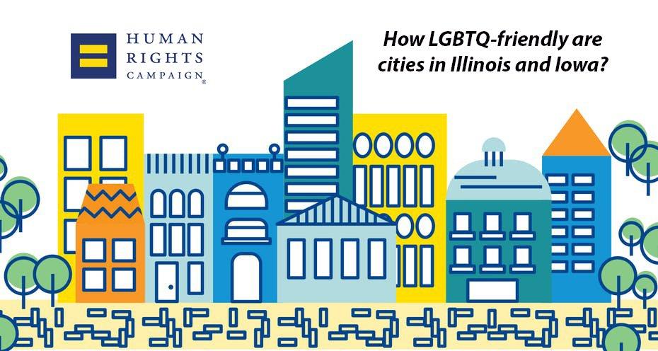 HRC LGBTQ rankings Iowa Illinois