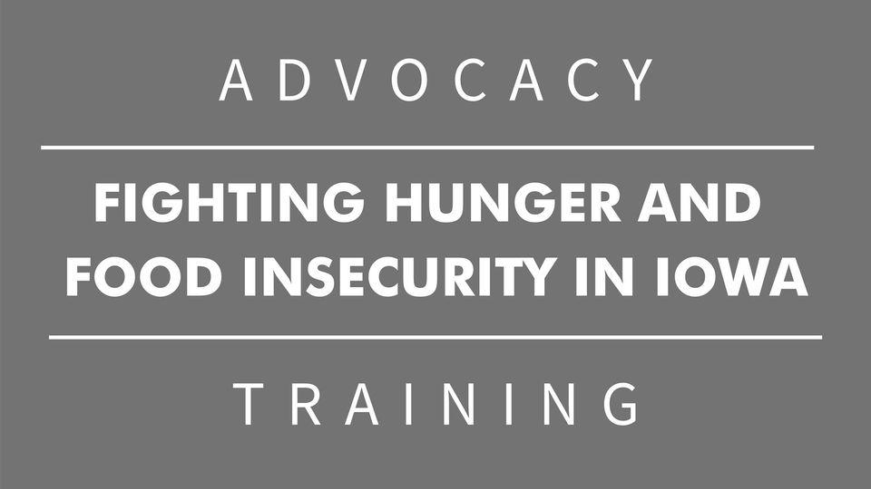 Food insecurity advocacy