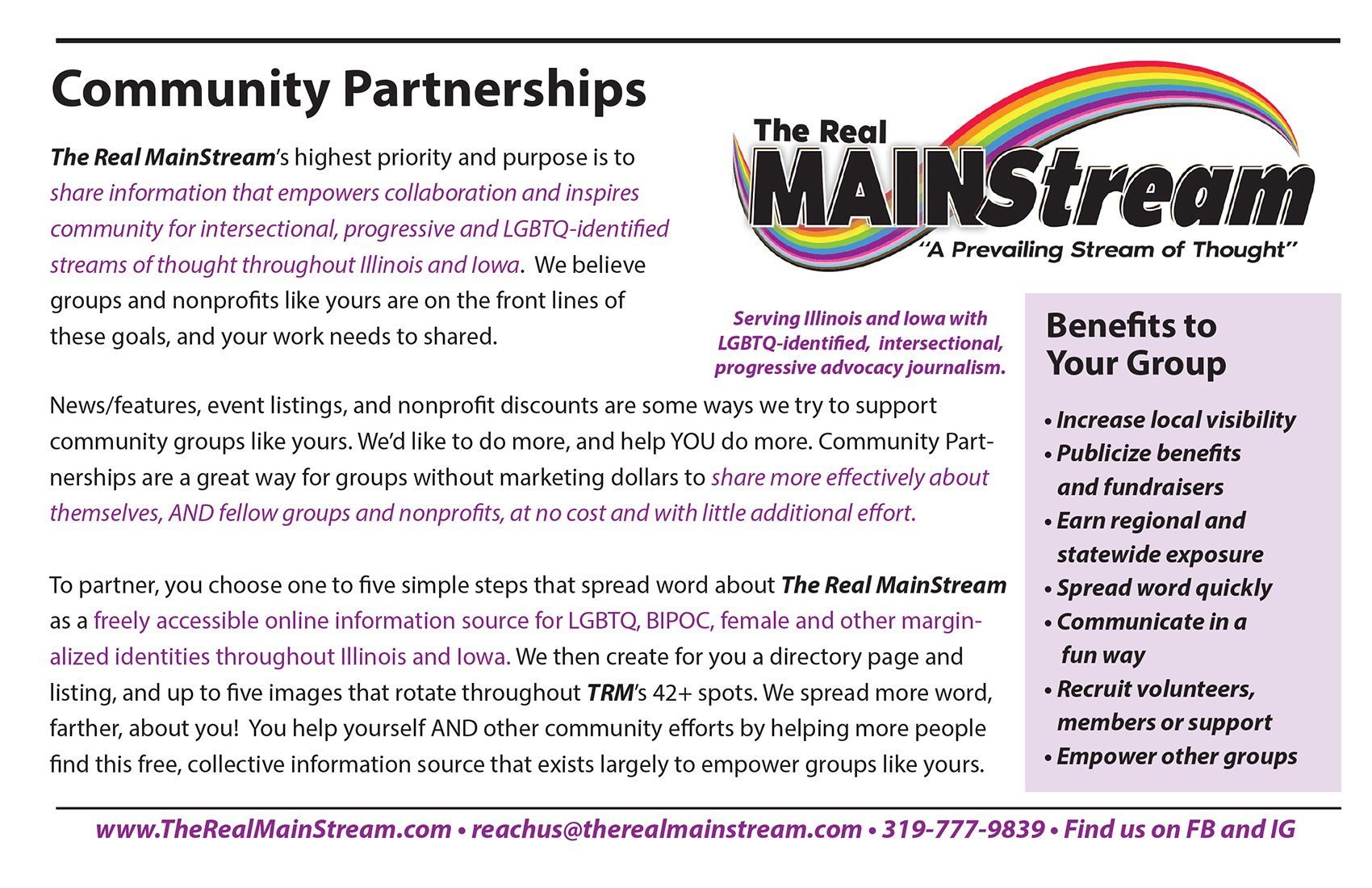 TRM Community Partners Page 1