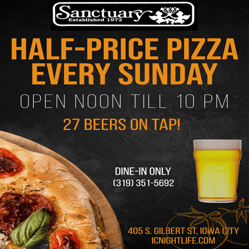 Sanctuary Pub pizza