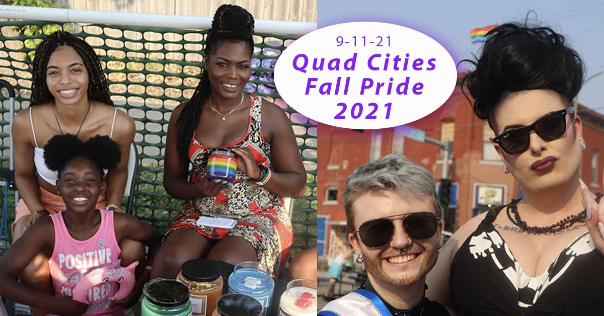 Quad Cities Fall Pride featuring Sinaman, MJ's Creative Candles, and more.