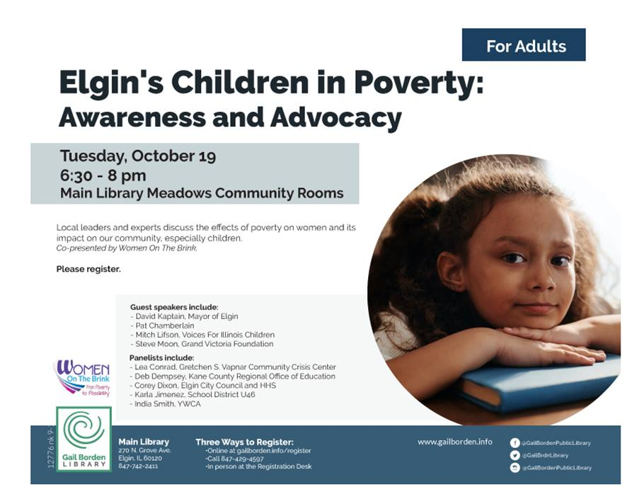 Elgin Children in Poverty and Women on the Brink