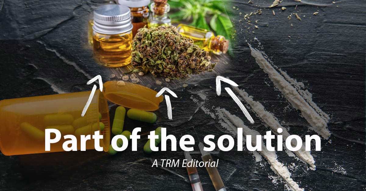Photo exhibiting cannabis oil, flower and hemp as part of the solution to overdoses from heroin, fentanyl-laced street drugs and prescription painkillers.